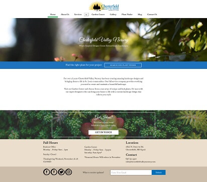 Chesterfield Valley Nursery Web Design