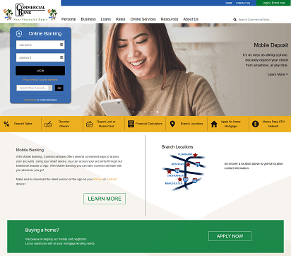 Commercial Bank Website Image