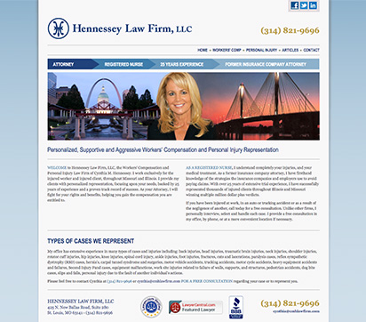 Hennessey Law Firm, LLC Website