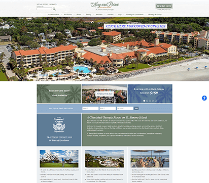 The King and Prince Resort Website